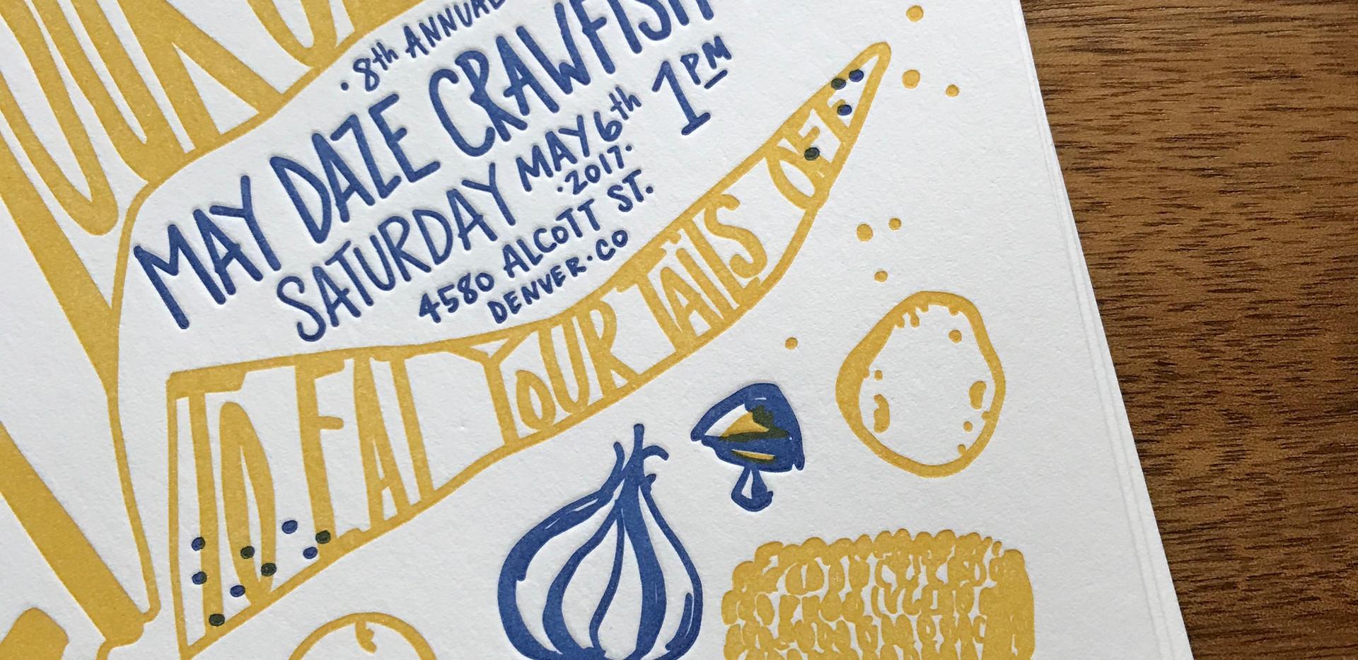 Crawfish Boil Claw Invitation