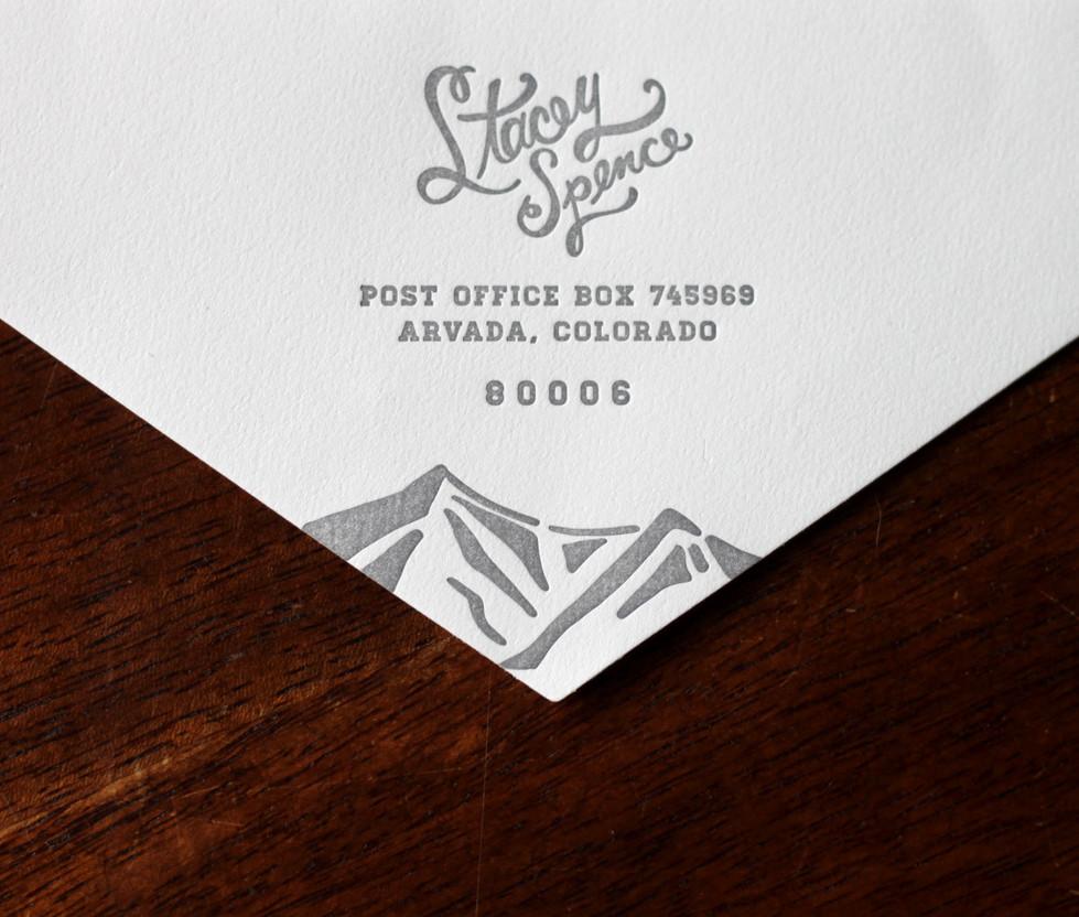 Mountain Peak Wedding Envelope