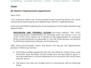 District C Appointment Update II