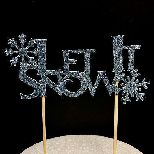 Let It Snow Christmas Cake Topper (Frozen Inspired)