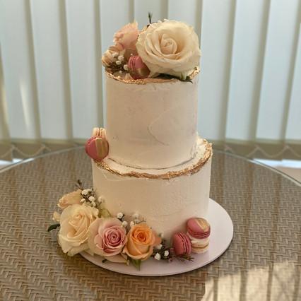 Fresh Flower Buttercream Celebration Cake