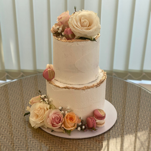 Fresh Flower Buttercream Celebration Cake