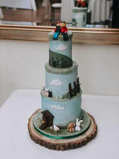 Small 3 Tier Fondant Cake
