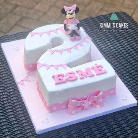 Minnie Mouse Number Cake