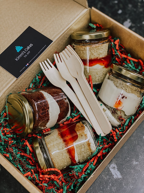 4 Festive Cake Jars (Pick Your Own)