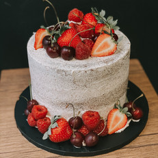 Berries & Cherries Semi-Naked Cake