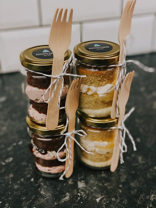 4 Vegan Cake Jars