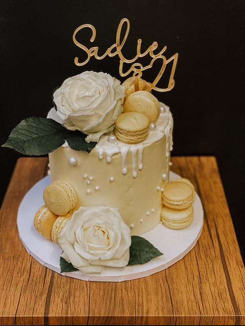 Lemon Buttercream Drip Cake