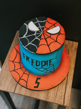 Spider Man Birthday Cake