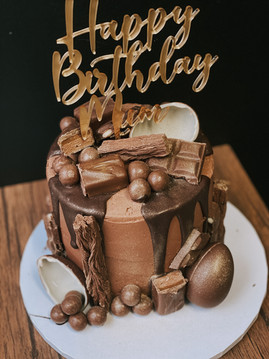 Chocolate Drip Birthday Cake