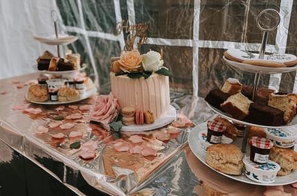 Cream Tea & Cake Dessert Table