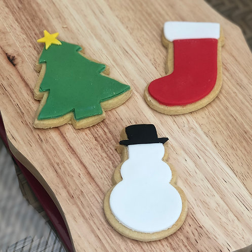 6 Festive Iced Shortbread Biscuits