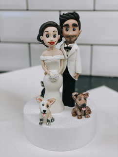 Personalised Bride & Groom Topper