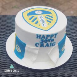 Leeds FC Birthday Cake