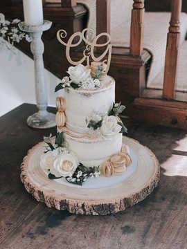 Large 2 Tier Semi-Naked Cake