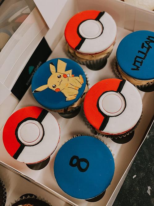 6 Pokemon Cupcakes