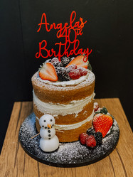 Naked Birthday Cake with Fresh Berries