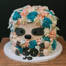 Sloth Buttercream Cake