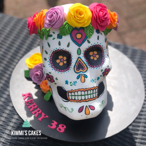 Sugar Skull Birthday Cake