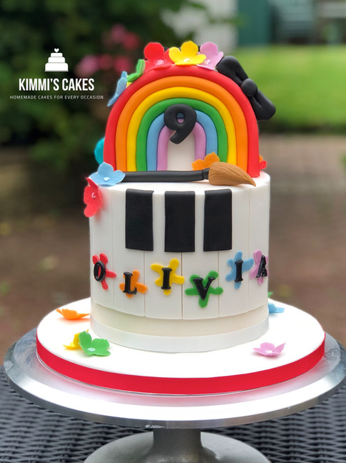 Half & Half Birthday Cake