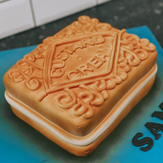 Custom Carved Custard Cream Cake