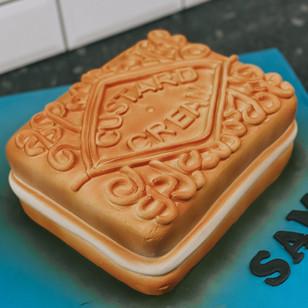 Custom Carved Custard Cream Cake