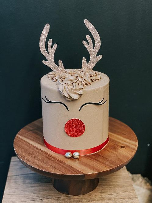 Reindeer Cake Topper Kit