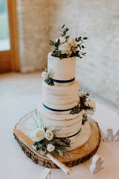 Medium 3 Tier Semi-Naked Cake