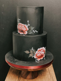 Hand Painted Celebration Cake