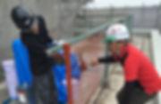 津市の塗装会社の日塗建の施工中写真
