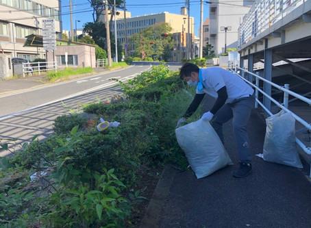 津市市民清掃デーに参加しました。