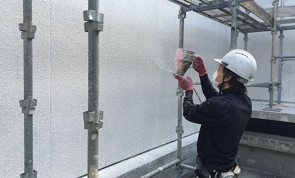 日塗建塗装吹付作業