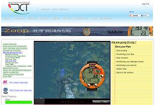 Dive Computer Training's online Suunto Zoop class