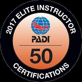 2017 PADI Elite Instructor Award
