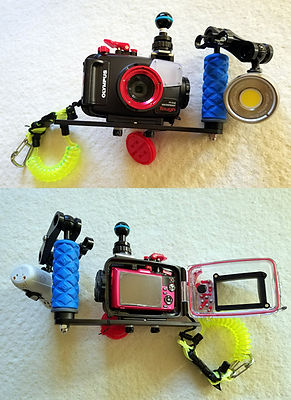 Olympus TG-4 + PT-056 housing + Sola 3000 video light