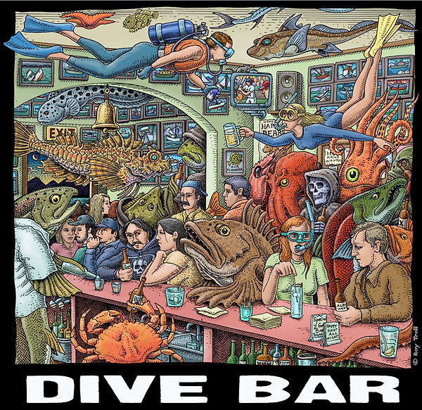 Dive Bar by Ray Troll (copyright)