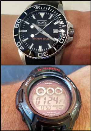 Dive timer examples