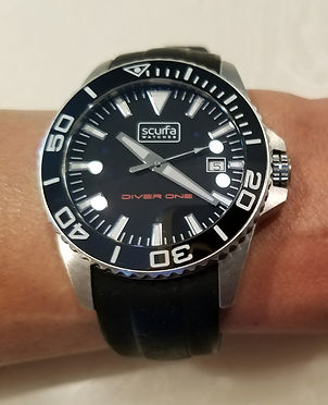 Scurfa Diver One watch face