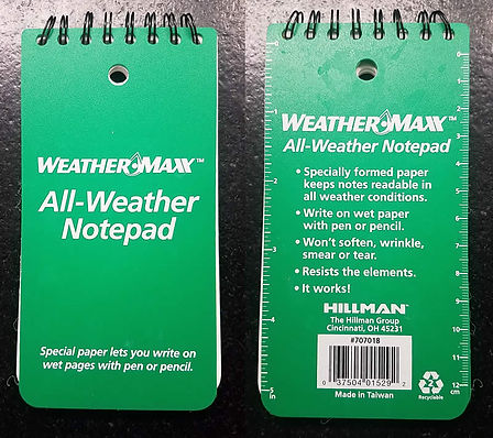 WeatherMax All Weather Notepad cover