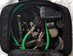 Padded regulator bag for carry-on gear.