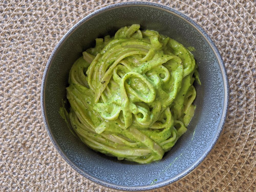 Pasta with an Avocado Pesto Sauce - The Sunday Cookbook - Food allergy recipes