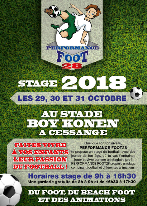 STAGE OCTOBRE 2018