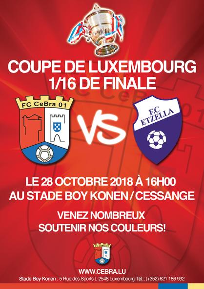 COUPE DE LUXEMBOURG 1/16 DE FINALE