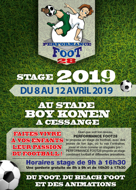 STAGE FOOT AVRIL 2019