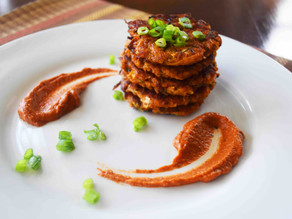 EASY ZUCCHINI & CARROT FRITTERS