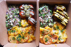 Italian & Jerk BUMI Boxes with Scalloped Potatoes