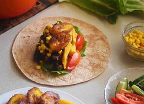 PLANTAIN & BLACK BEAN BURRITO | quick + simple meal