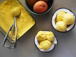MANGO ICE-CREAM | 3 ingredients + no churn