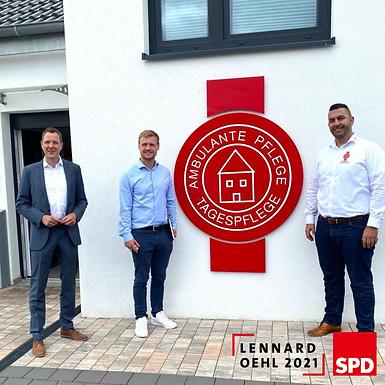 Besuch der KREMER Pflege-und Betreuungsdiensten Hammersbach mit Christoph Degen