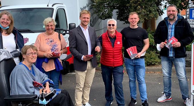 Wahlstände in Schöneck und Bürgergespräche